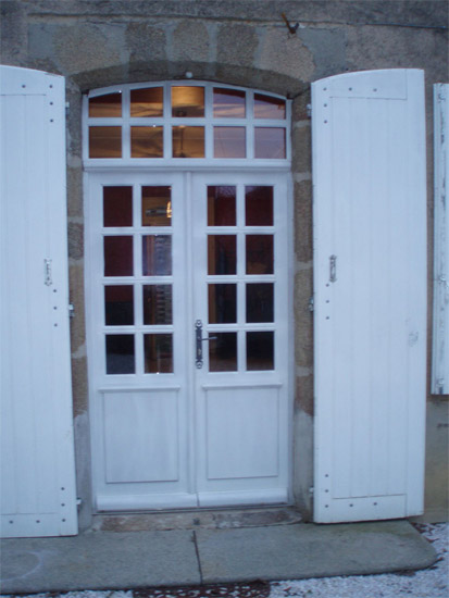 Simple et original: la porte de grange